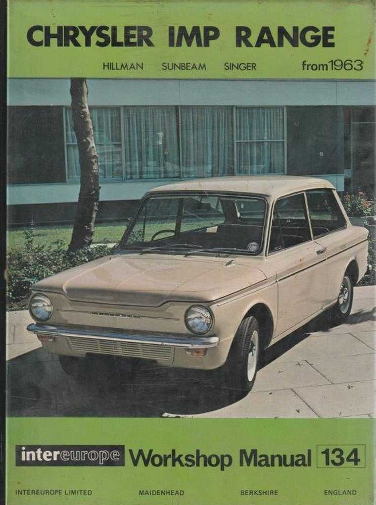 Workshop Manual for Chrysler IMP Range - Hillman, Sunbeam and Singer, Intereurope