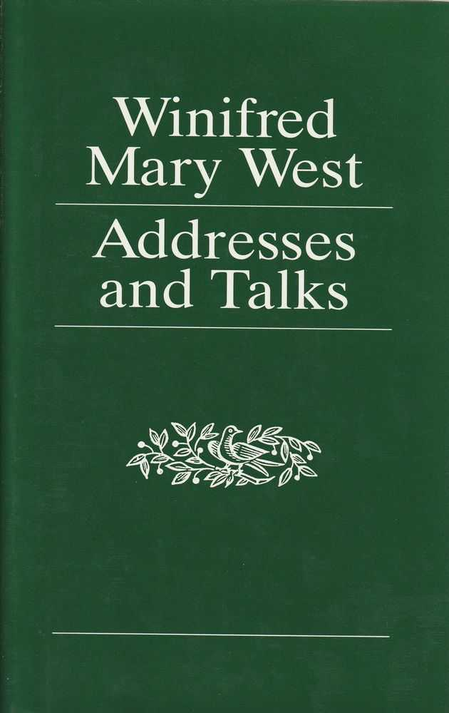 Addresses and Talks, Winifred Mary West