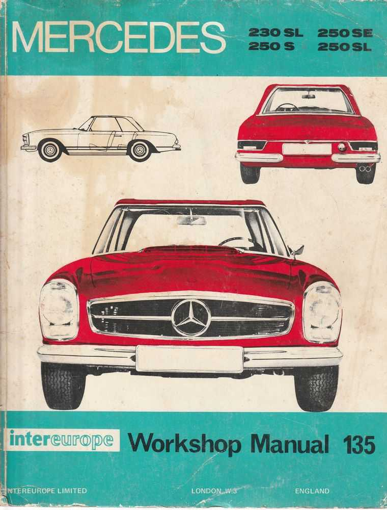 Mercedes Benz 1965-1968 The 250 Series and the 230SL - 230SL; 250SL; 250S; 250SL:, Peter R.D. Russek