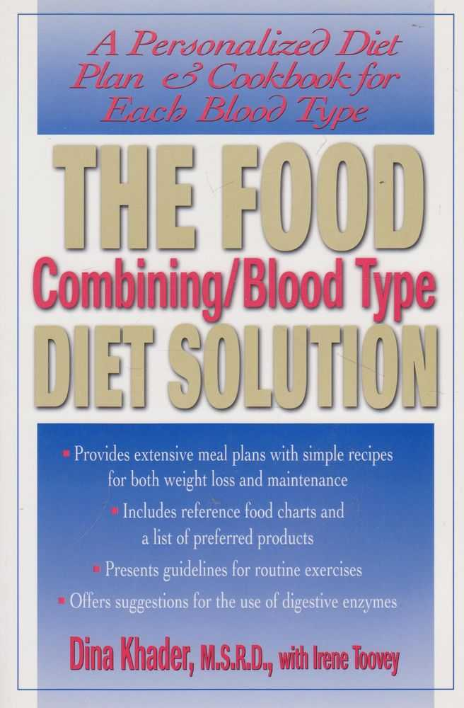 The Food Combing/Blood Type Diet Solution, Dina Khader with Irene Toovey