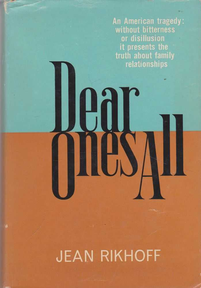 Dear Ones All, Jean Rikhoff