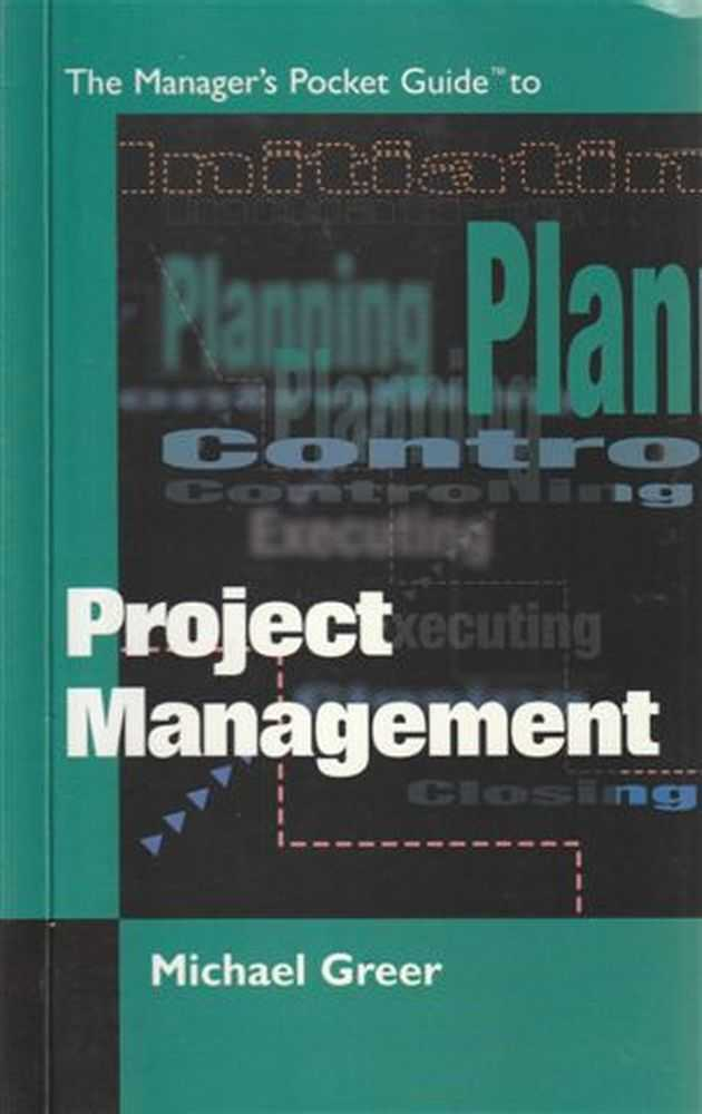 The Manager's Pocket Guide to Project Management, Michael Greer