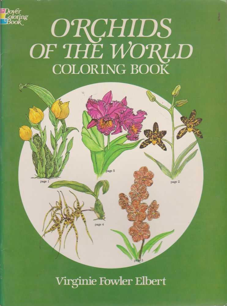 Orchids of the World Coloring Book, Virginie Fowler Elbert