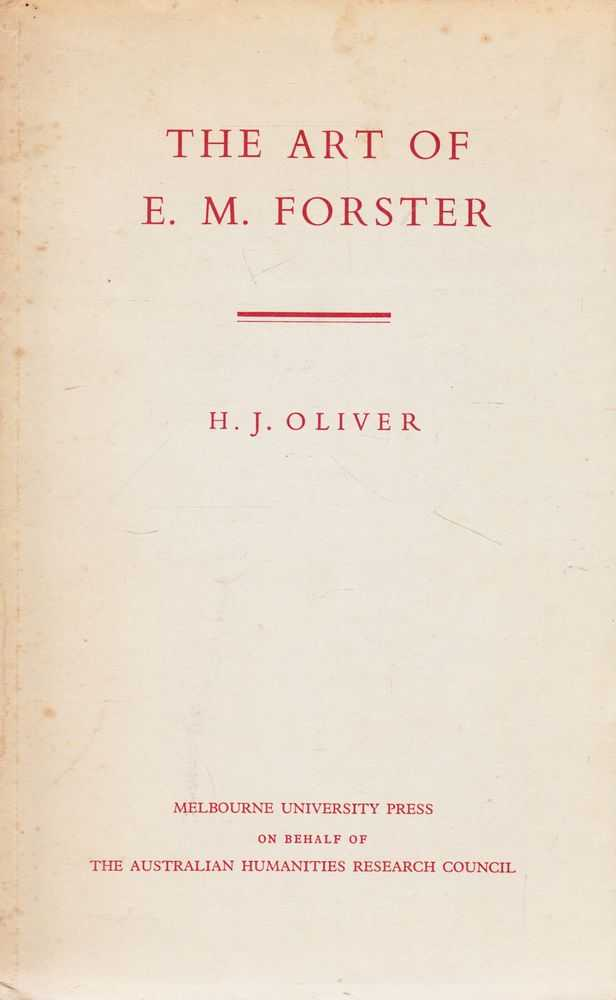 The Art of E.M. Forster, H. J. Oliver