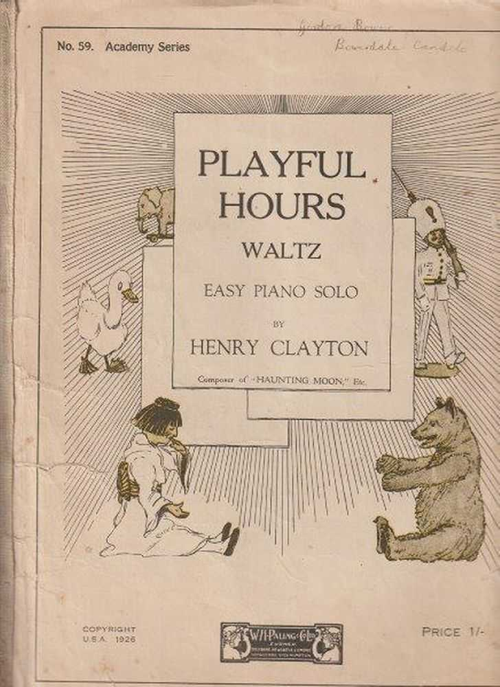 Playful Hours Waltz Easy Piano Solo, Henry Clayton