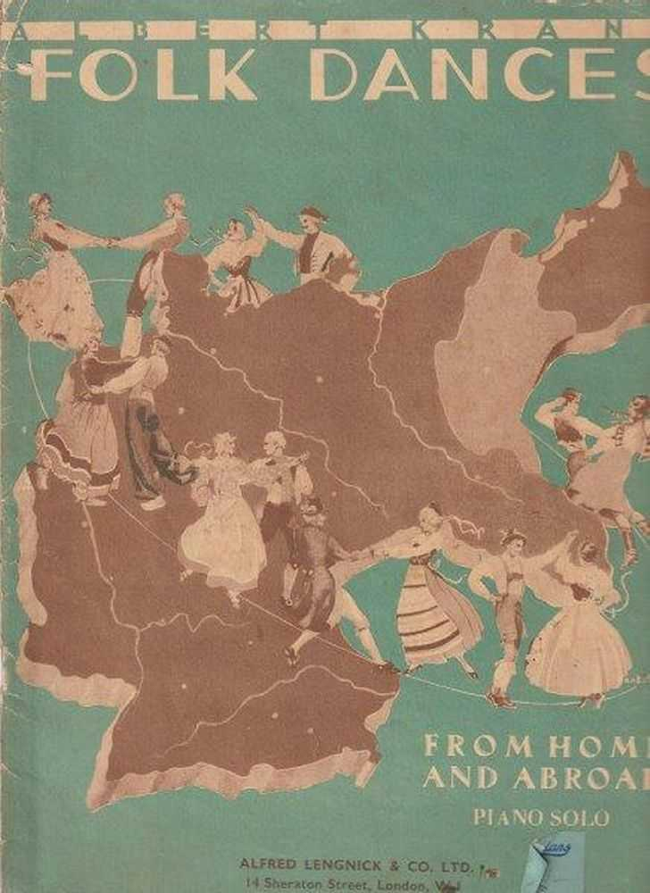 Folk Dances From Home And Abroad - Piano Solo, Albert Kranz