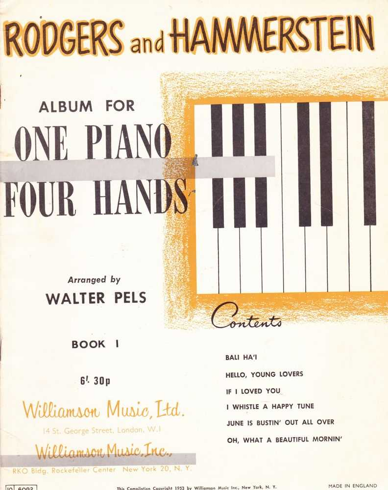 Album For One Piano and Four Hands - Book 1, Rodgers And Hammerstein