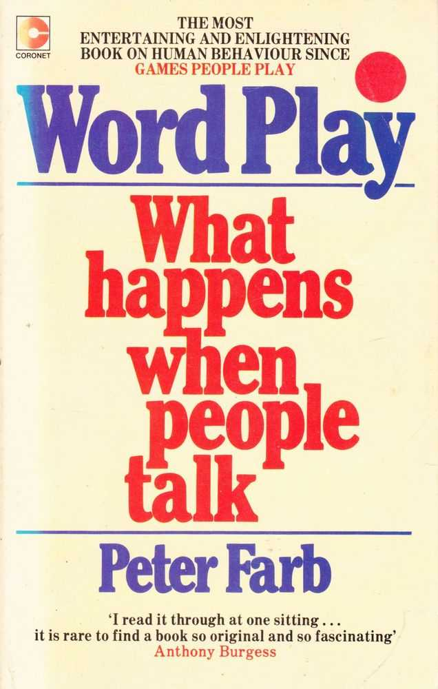 Word Play - What happens When People Talk, Peter Farb
