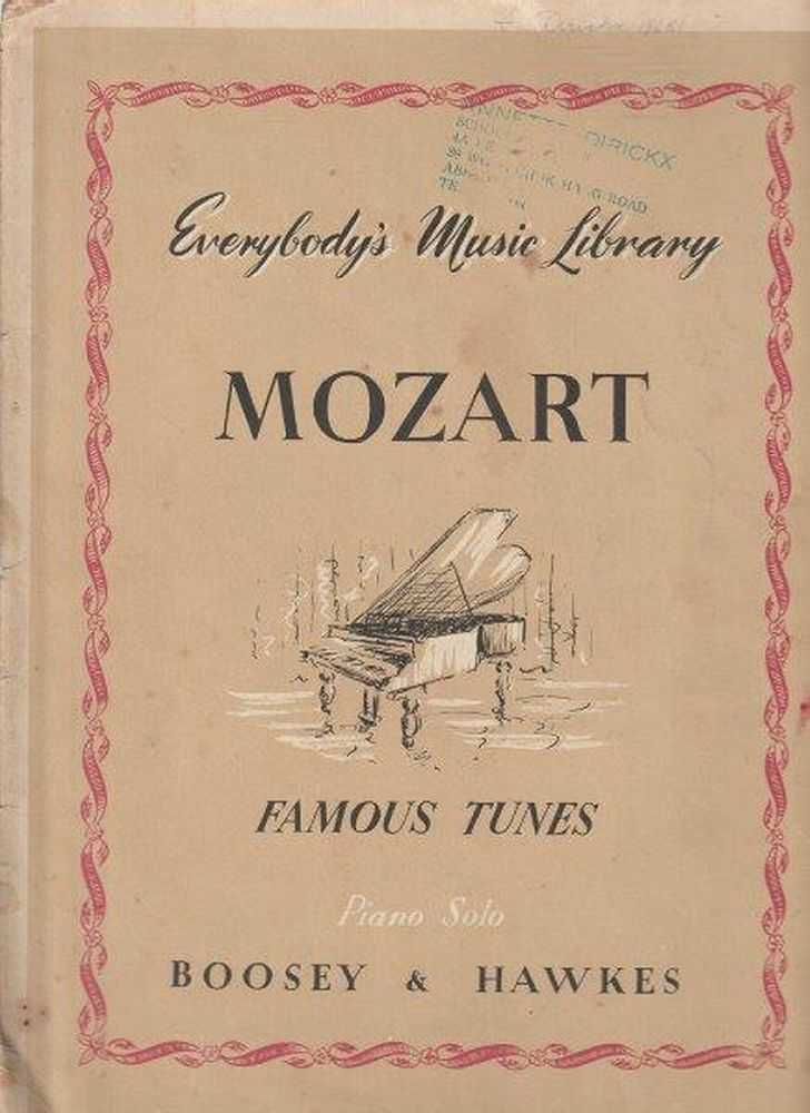 Mozart Everybody's Music Library - Famous Tunes - Piano Solo, Mozart