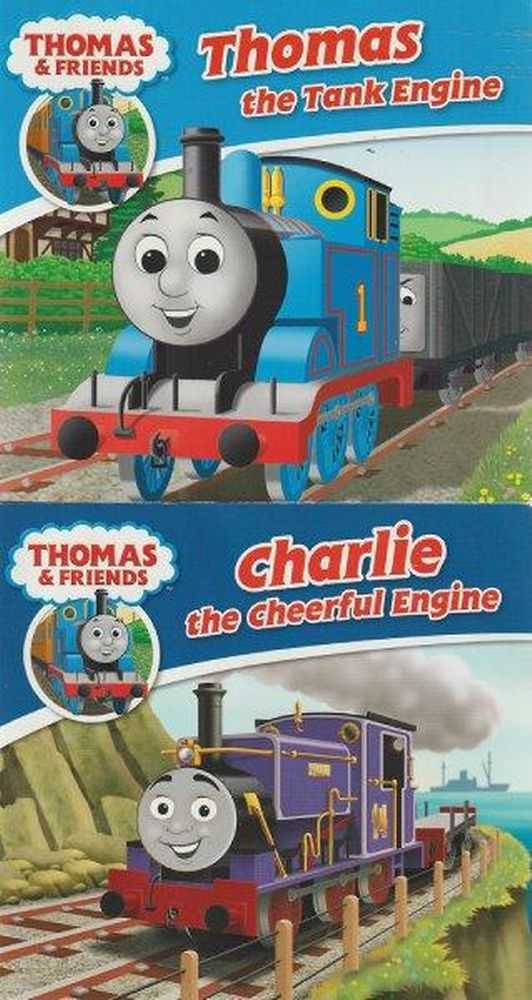 Thomas & Friends: 13 Booklets: Thomas The Tank Engine; Charlie The Cheerful Engine; Hector The Horrid Hopper; Percy The Small Engine; Rocky The Rescue Crane; James The Red Engine; Toby The Tram Engine; Spencer The Express Engine; Troublesome Trucks; Kevin The Mobile Crane; Hiro The Old Steam Engine; Jeremy The Jet Plane; Duck, Rev. W. Awdry