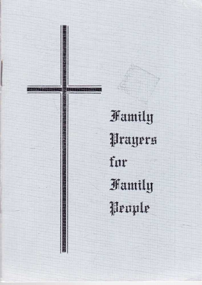 Family Prayers for Family People, Diocese of Ballarat