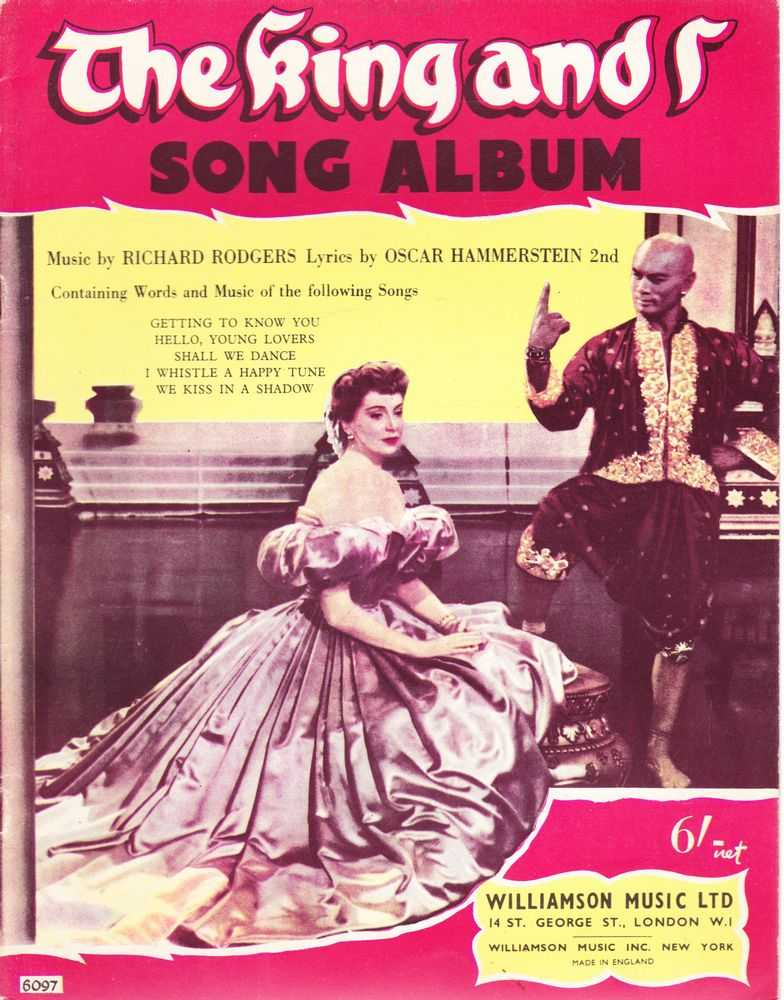 The King And I Song Album, Richard Rodgers and Oscar Hammerstein 2nd