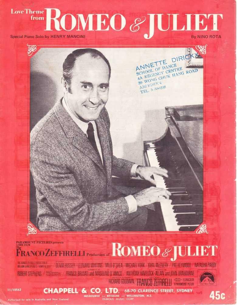 Love Theme From Romeo & Juliet, Nino Rota - Piano Solo By henry Mancini