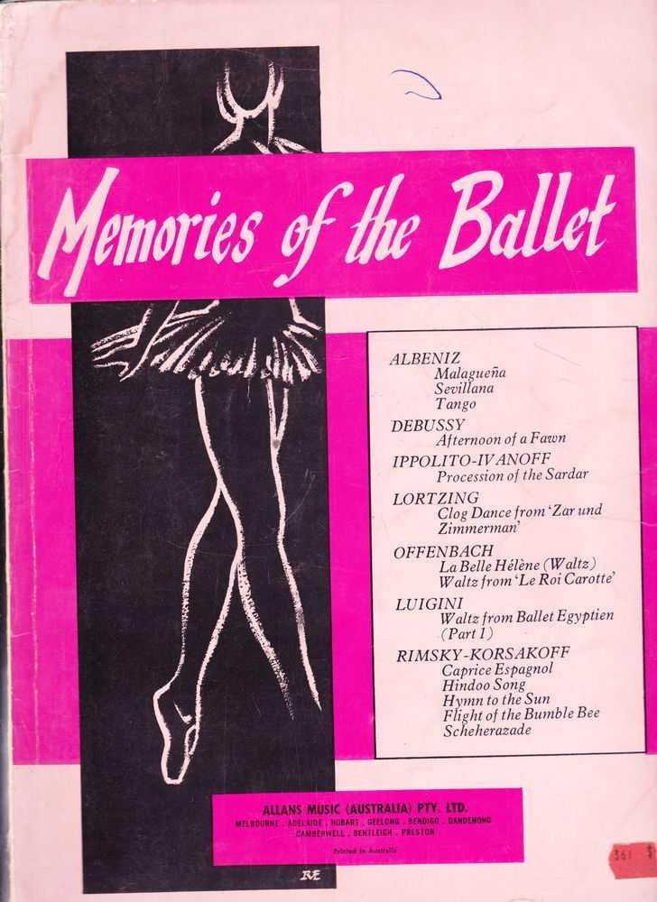 Memories Of The Ballet, Albeniz, Debussy, Lortzing, Offenbach, Luigini, Rimski Korsakoff