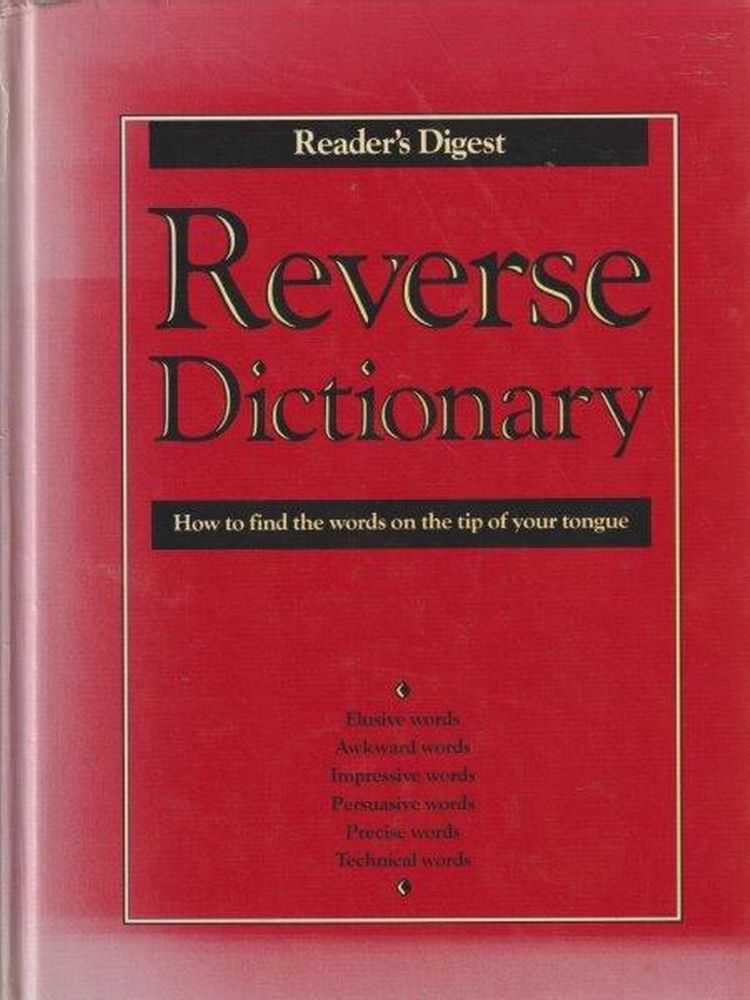 Reader's Digest Reverse Dictionary, Reader's Digest