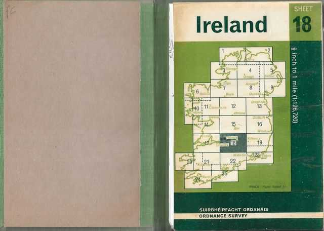 Tipperary: Ordnance Map of Ireland Sheet 18 1/2 inch to 1 mile, Government of Ireland
