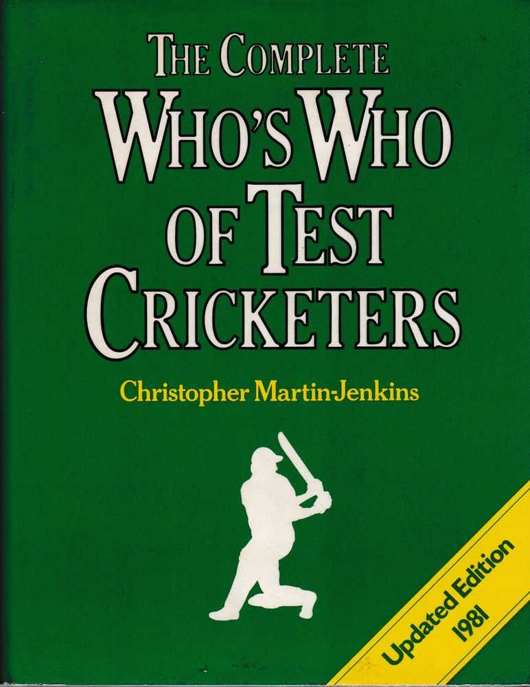 The Complete Who's Who of Test Cricketers, Christopher Martin-Jenkins