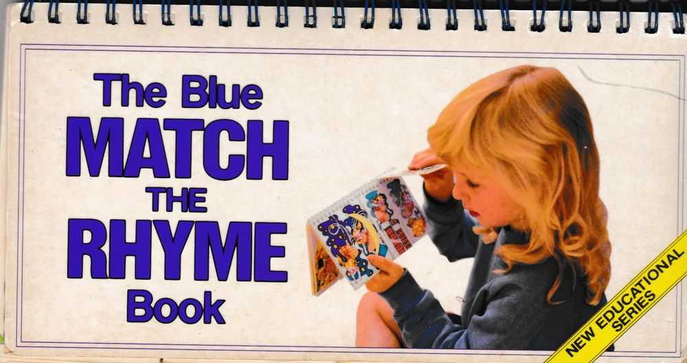 The Blue Match The Rhyme Book, C. Egan