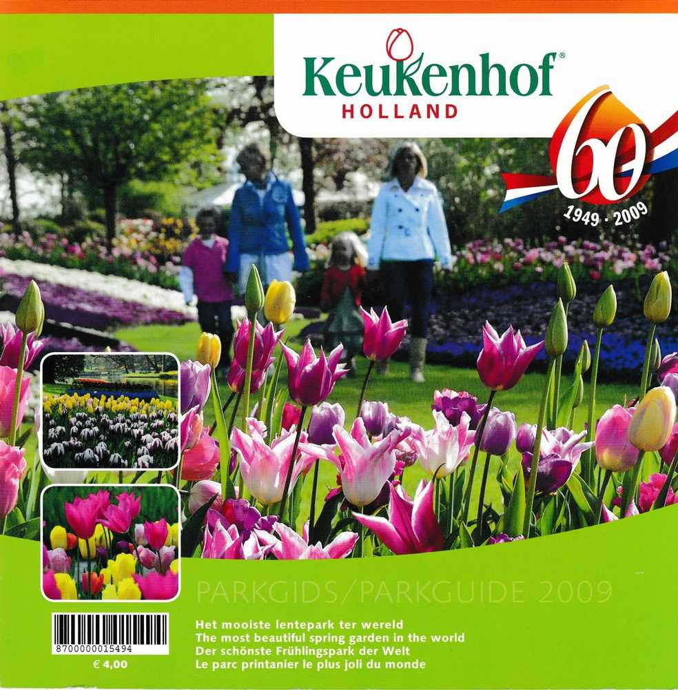 Keukehof Holland 60 1949-2009 Pargids/ Parkguide: The Most Beautiful Spring Garden in the World, Keukehof Holland