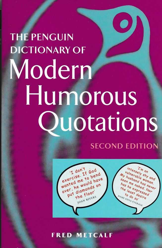 The Penguin Dictionary of Modern Humorous Quotations, R. L. Trask