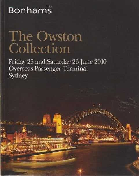 The Owston Collection - Friday 25 and Saturday 26 June 2010 Overseas Passenger Terminal Sydney, Bonhams