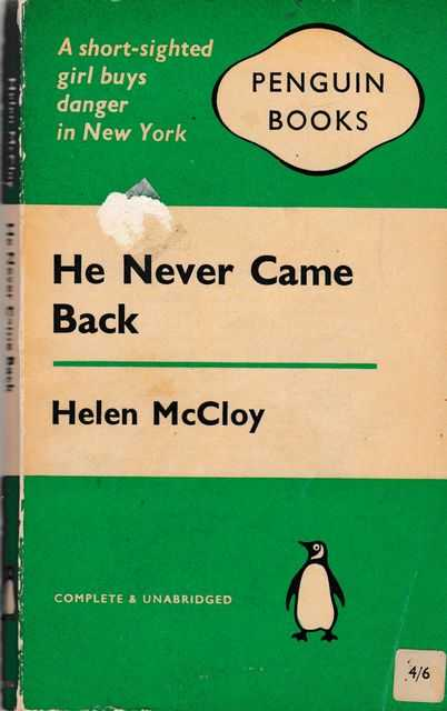 He Never Came Back, Helen McCloy