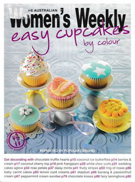 Easy Cupcake by Colour, The Australian Women's Weekly