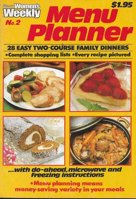 The Australian Women's Weekly - Menu Planner Number 2 - 28 Easy Two Course Family Dinners, Pamela Clark [Editor] The Australian Women's Weekly