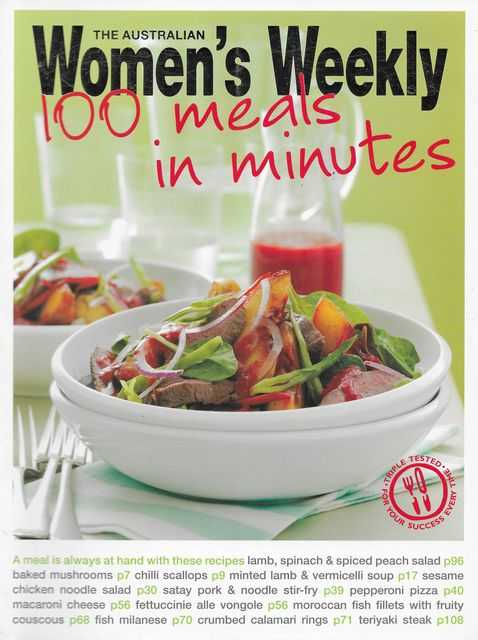 100 Meals in Minutes, The Australian Women's Weekly