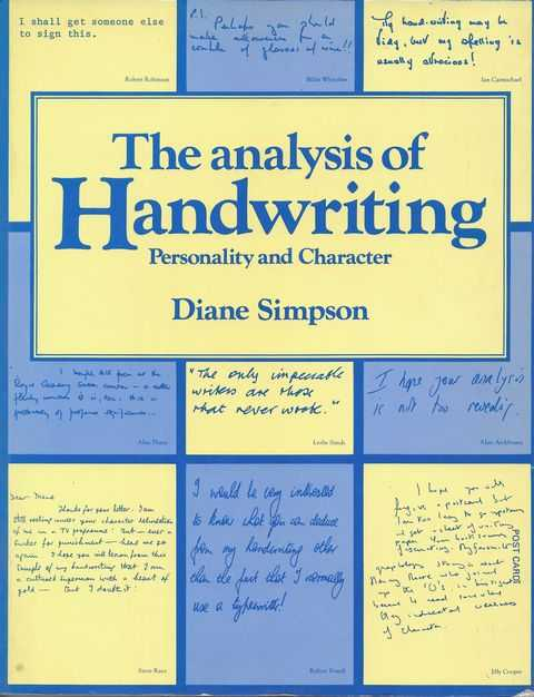 The Analysis of Handwriting: Personalilty and Character, Diane Simpson