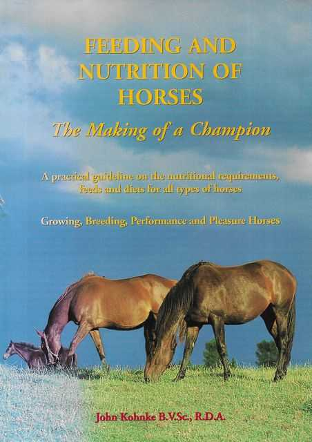 Image for Feeding and Nutrition of Horses: The Making of A Champion