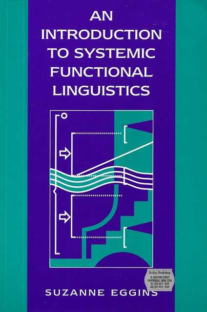 Image for An Introduction to Systemic Functional Linguistics