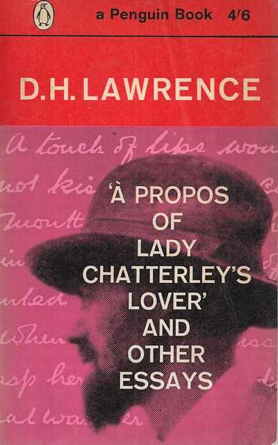 Image for A Propos of Lady Chatterley's Lover and Other Essays