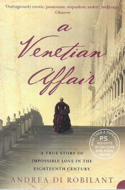 Image for A Venetian Affair: A True Story of Impossible Love in the Eighteenth Century