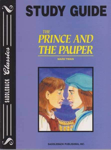THE PRINCE AND THE PAUPER - With Study Guide ( Saddleback Classics ), Twain, Mark ( adapted by Joanne Suter )