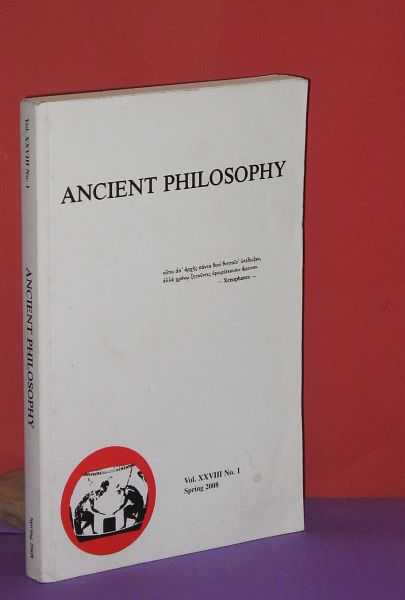 Image for Ancient Philosophy : Vol. XXVIII No. 1