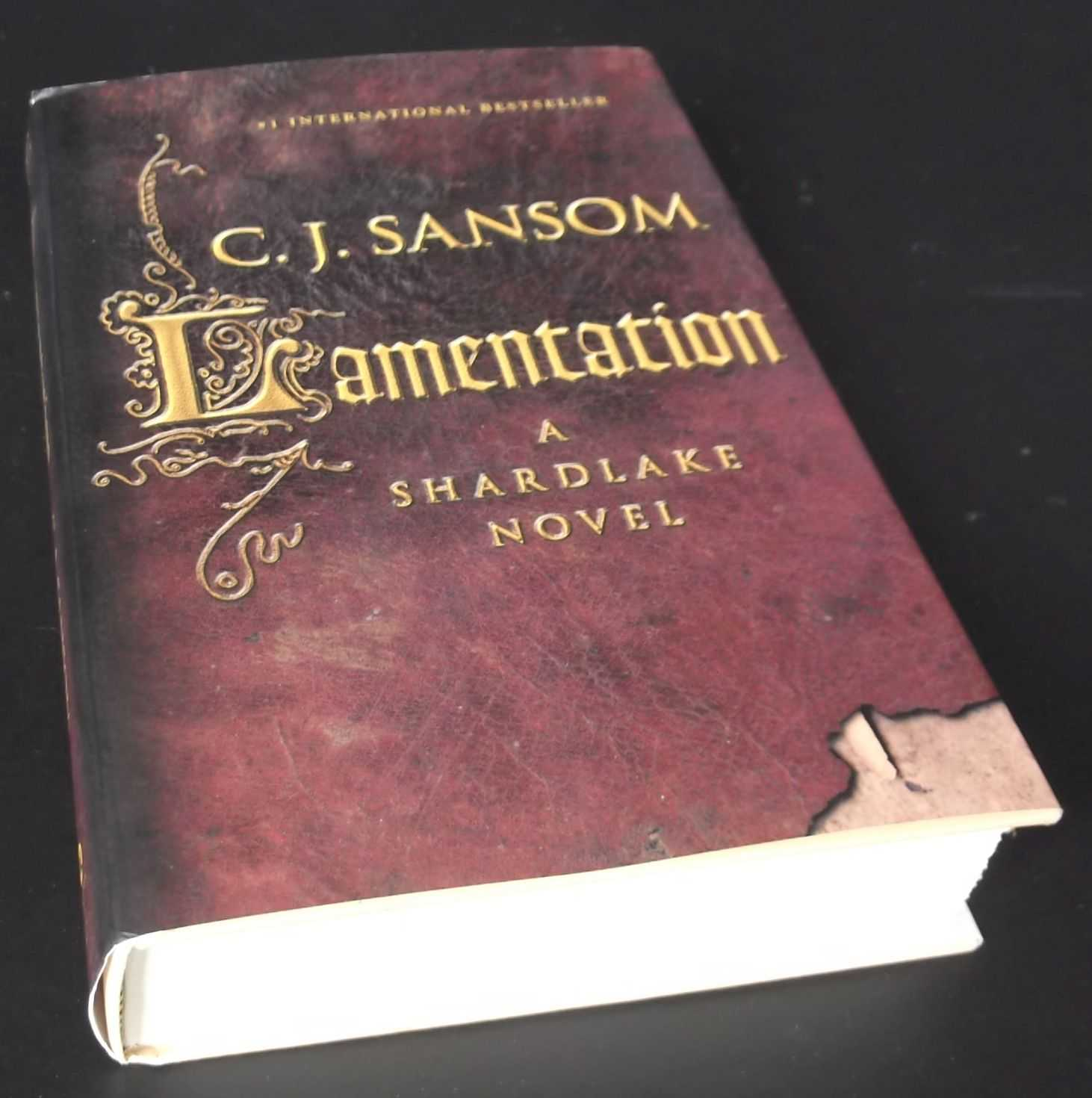 C. J. SANSOM - Lamentation SIGNED COPY