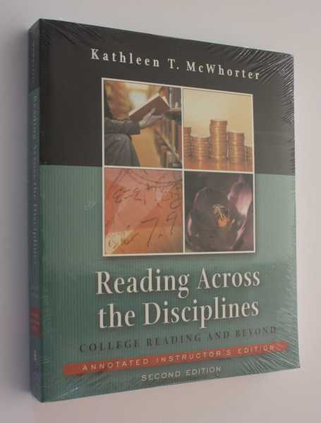 Reading Across the Disciplines: College Reading and Beyond Annotated Instructor's Edition, Second Edition, McWhorter, Kathleen T.