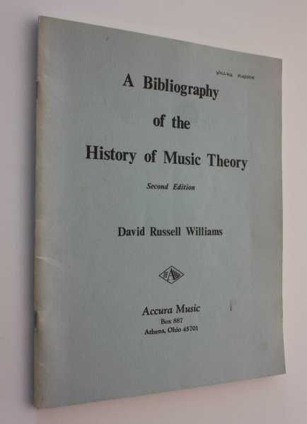 A Bibliography of the History of Music, Williams, David Russell