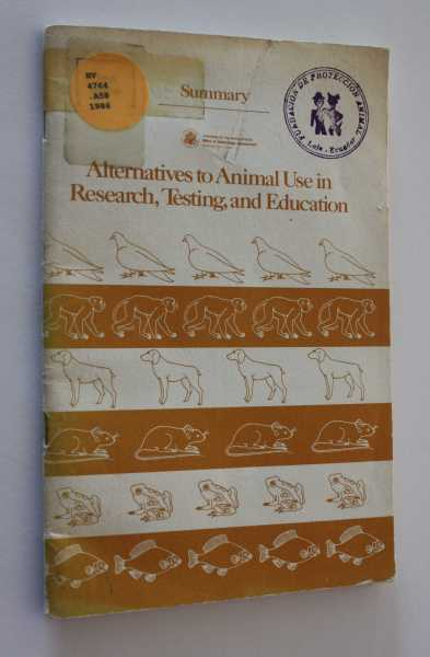 Alternatives to Animal Use in Research, Testing, and Education, Gibbons (Director), John H.