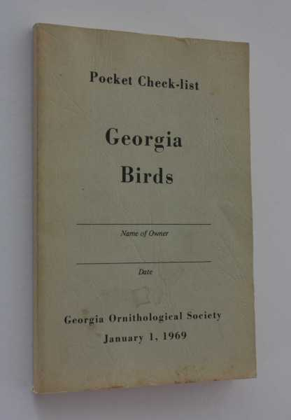Pocket Check-list Georgia Birds, Georgia Ornithological Society