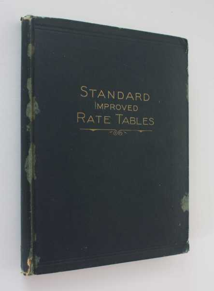 Standard Improved Rate Tables Number 1658, Marshall, John W.