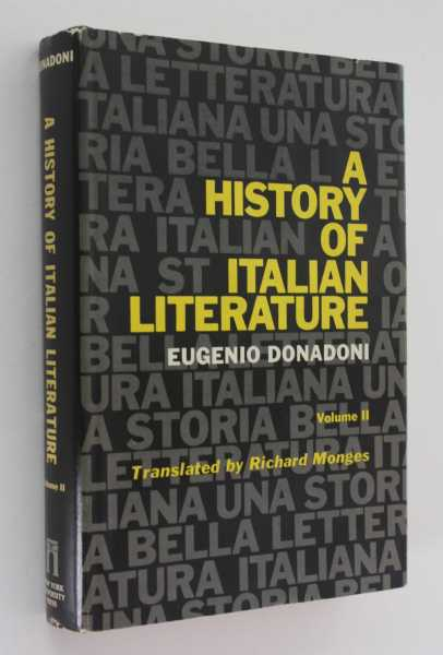A History of Italian Literature, Volume 2, Donadoni, Eugenio