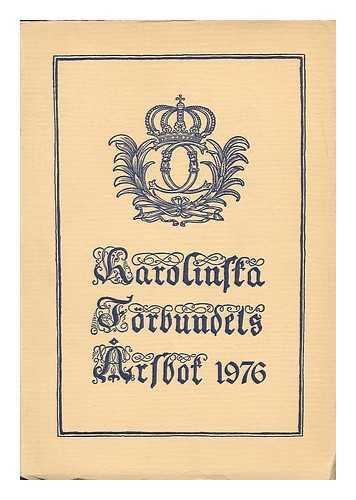 KAROLINSKA FORBUNDET - Karolinska Forbundets Arsbok 1976 [Language: Swedish]
