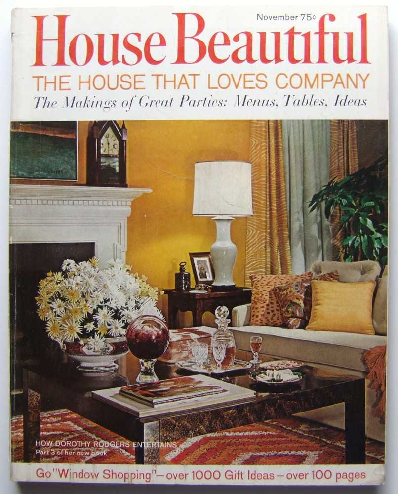 House Beautiful (November, 1967 Vol. 109, #11), Elizabeth Gordon (editor); Dorothy Rodgers