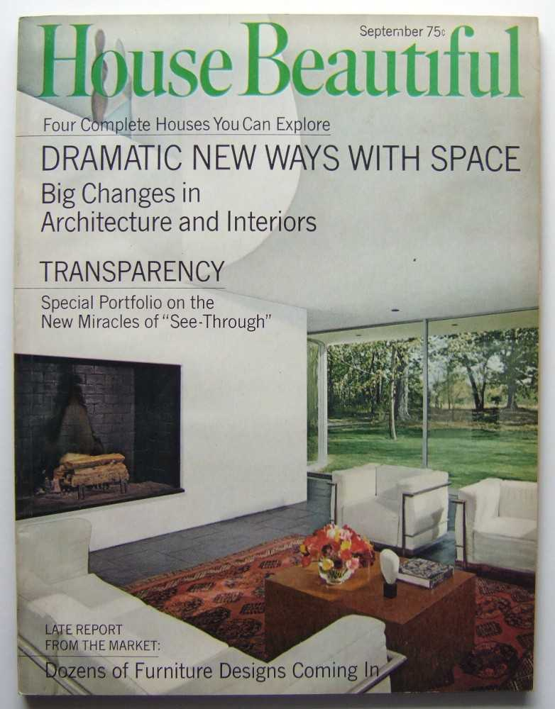 House Beautiful (September, 1968 Vol. 110, #9), Elizabeth Gordon (editor); Richard Meier; R. Buckminster Fuller
