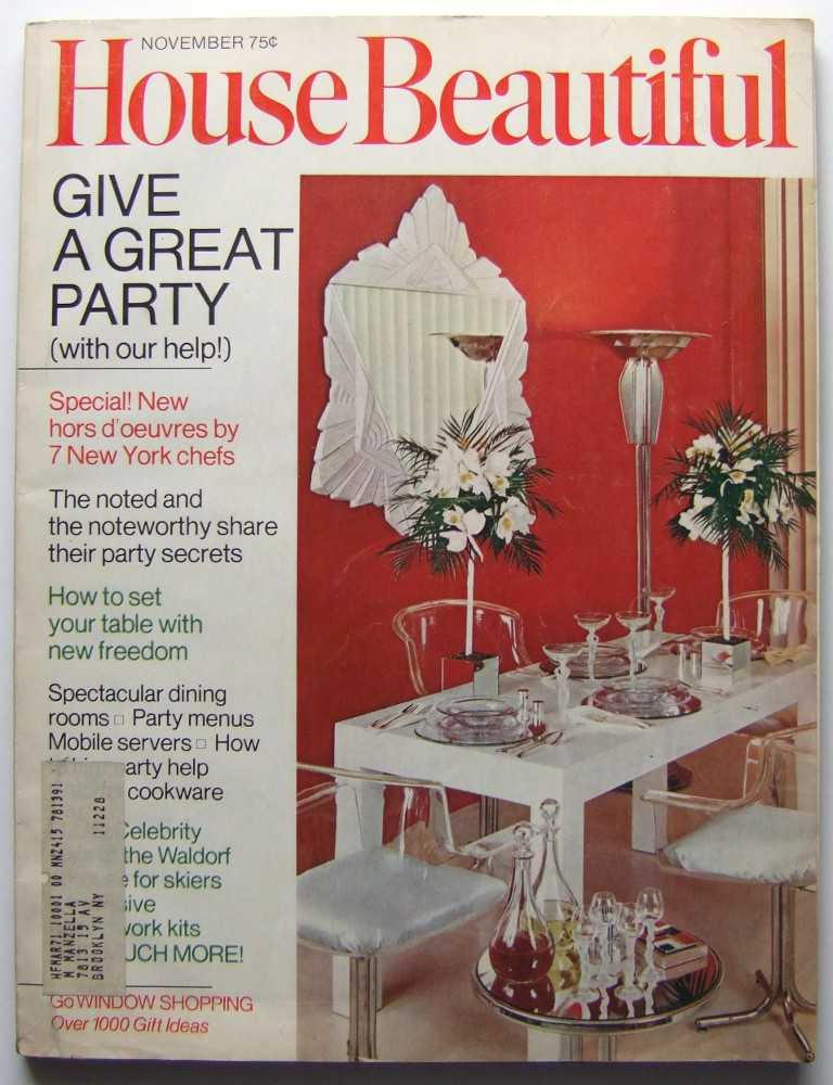 House Beautiful (November 1970 Vol. 112, #11), Gordon (editor), Elizabeth