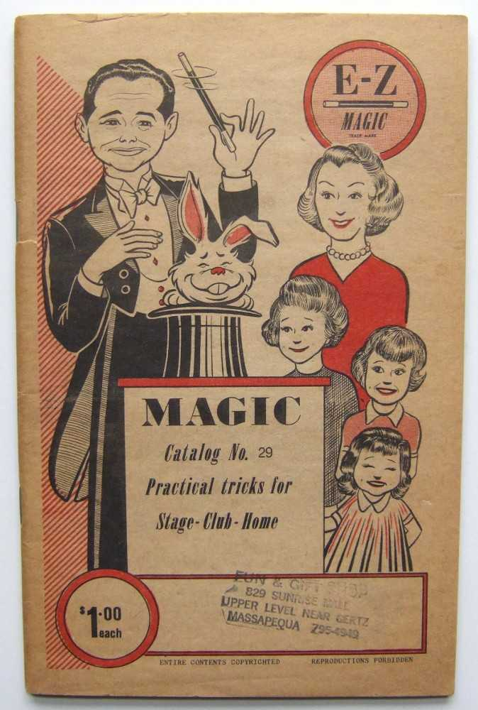 E-Z Magic: Practical Tricks for Stage, Club and Home, Catalog No. 29, Editors