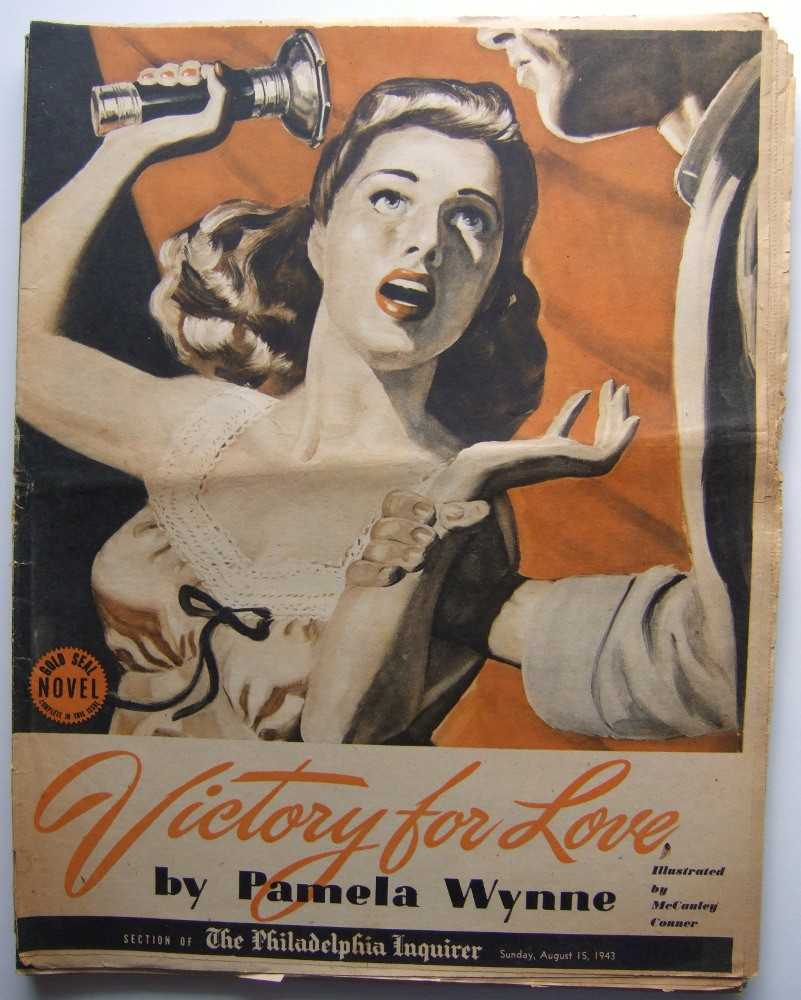 Victory For Love (Gold Seal Novel, presented by the Philadelphia Inquirer, Sunday, August 15th, 1943), Wynne, Pamela