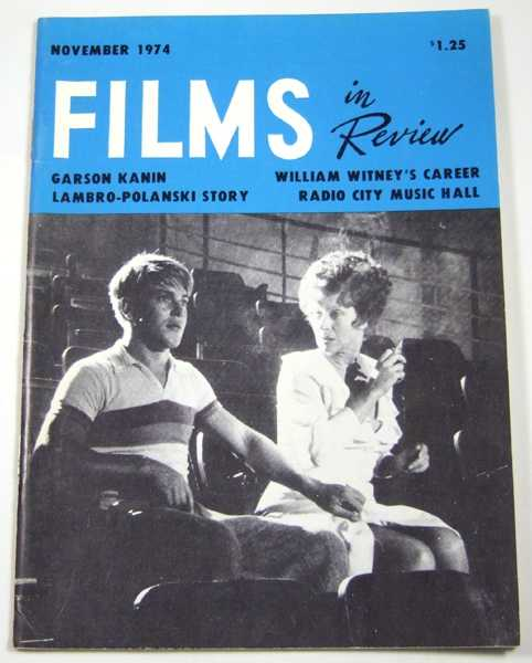 Image for Films in Review (November, 1974)